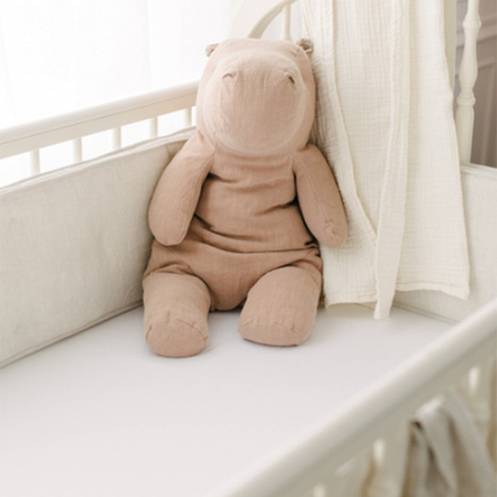 bamboo crib sheets with stuffed animal