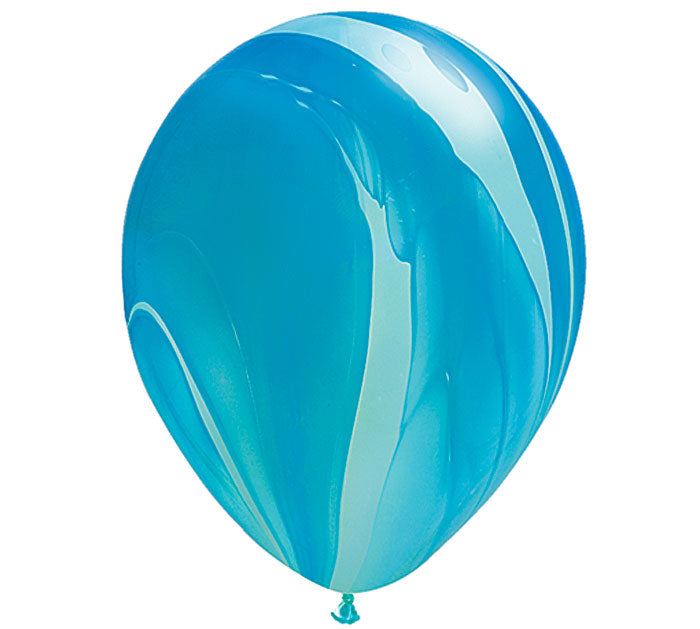 blue and light blue single marble balloon