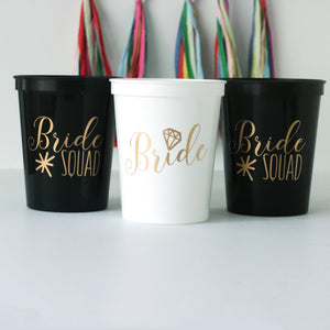 Bride Squad Bachelorette Cups, bachelorette party cups, stadium cups