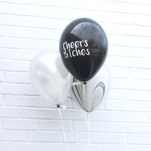 black cheers bitches balloon