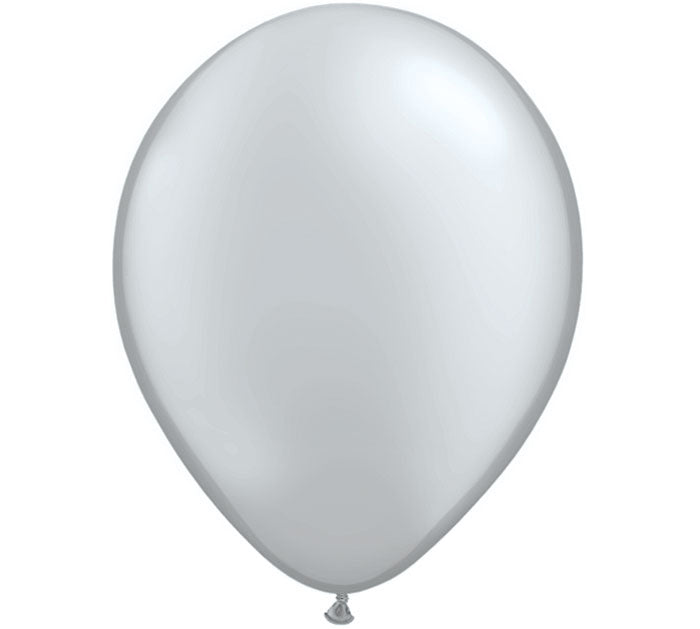 silver balloons, metallic party balloon