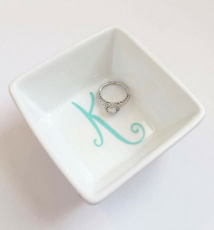 Single Letter Ring Dish