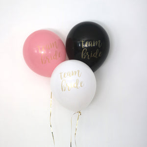 Team Bride Set of 3 Balloons