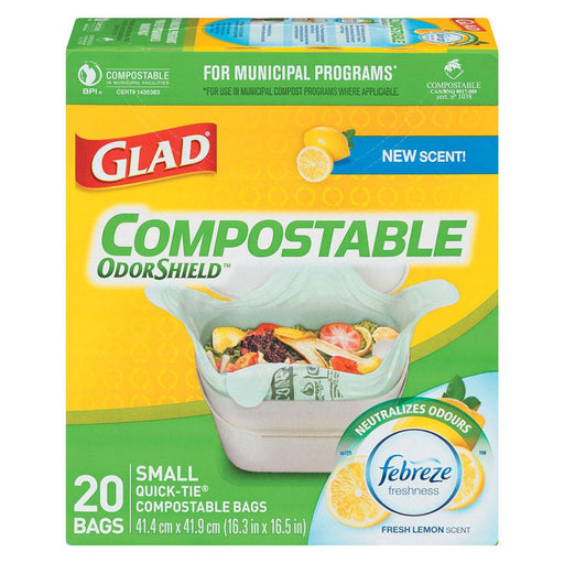 GLAD PETIT SAC COMPOSTABLE TABLE 20 UN