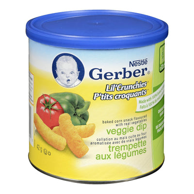 NESTLE GERBER PTITS CROQUANTS COLLATION TREMPETTE LEGUMES 42 G