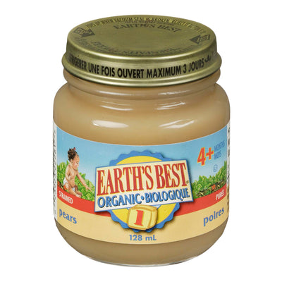 EARTHS BEST PUREE POIRES BIOLOGIQUE 128 ML
