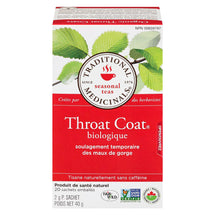 TRADITIONAL MEDICINALS THROAT COAT TISANE MAUX GORGE BIOLOGIQUE, 20S, 40 G