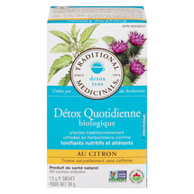TRADITIONAL MEDICINALS DETOX QUOTIDIENNE TISANE CITRON BIOLOGIQUE, 20S, 30 G