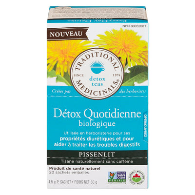 TRADITIONAL MEDICINALS DETOX QUOTIDIENNE TISANE PISSENLIT BIOLOGIQUE 20S 30 G