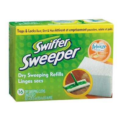 SWIFFER SWEEPER LINGES SECS AGRUMES SUCRES ENTRAIN RECHARGE 16 U