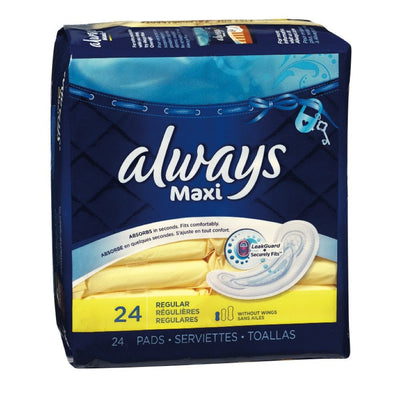 ALWAYS SERVIETTE MAXI 24 UN