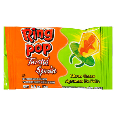 RING POP BONBON SPIRALEE AGRUMES FOLIE 14 G