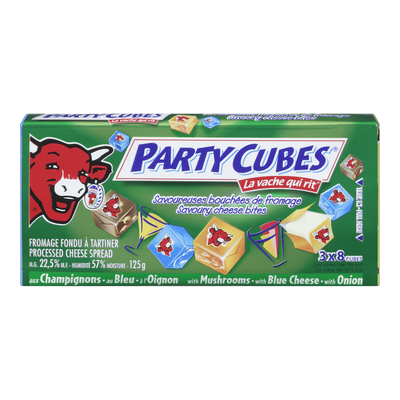 AGROPUR FROMAGE PARTY CUBE VERT  125 G