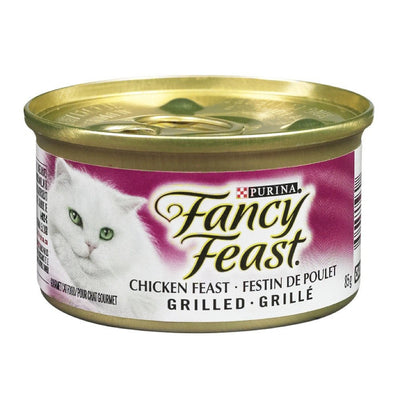 FANCY FEAST NOURRITURE CHAT POULET GRILLE 85 G