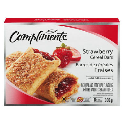 COMPLIMENTS BARRE CEREALES FRUITS FRAISES 300 G