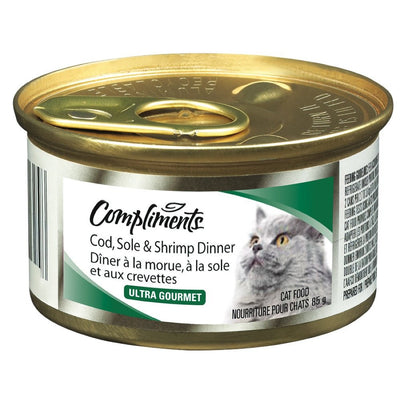 COMPLIMENTS NOURRITURE CHAT MORUE SOLE CREVETTE 85 G