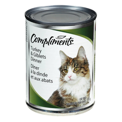 COMPLIMENTS NOURRITURE CHAT BOEUF DINDE ABATS 374 G