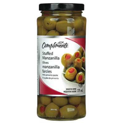COMPLIMENTS OLIVES MANZANILLA FARCIES 375 ML
