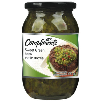 COMPLIMENTS RELISH VERTE SUCRÉE 375 ML