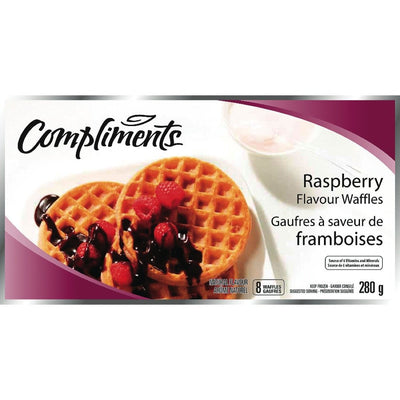 COMPLIMENTS GAUFRES FRAMBOISE 8PK 280 G