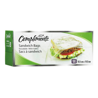 COMPLIMENTS SAC SANDWICH REFERMABLES 100 UN