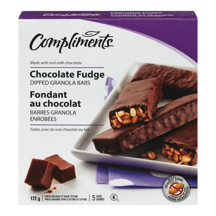 COMPLIMENTS BARRE GRANOLA ENROB CHOCOLAT FUDGE  172 G