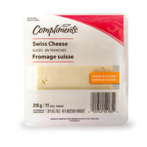 COMPLIMENTS, FROMAGE SUISSE TRANCHE, 210G
