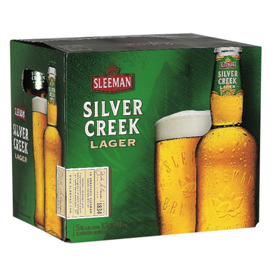 SLEEMAN BIÈRE SILVER 4CREEK LAGER 12X341 ML