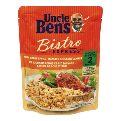 UNCLE BENS BISTRO EXPRESS RIZ GRAINS LONGS SAUVAGE POULET 250 G