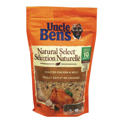 UNCLE BENS SELECTION NATURELLE RIZ POULET ROTI SAUVAGE 365 G