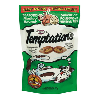 WHISKAS TEMPTATIONS GATERIES POUR CHATS POISSONS FRUITS DE MER 85 G