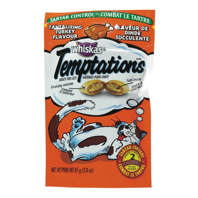 WHISKAS TEMPTATIONS GATERIES POUR CHATS DINDE SUCCULENTE 85 G
