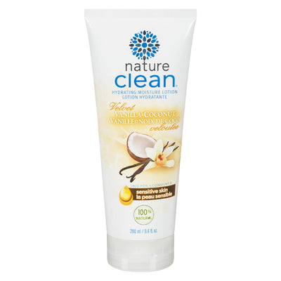 NATURE CLEAN LOTION HYDRATANT VANILLE ET NOIX DE COCO 100% NATUREL 280G