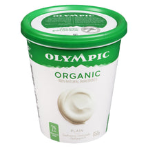 OLYMPIC, YOGOURT NATURE BIOLOGIQUE 2 %, 650 G