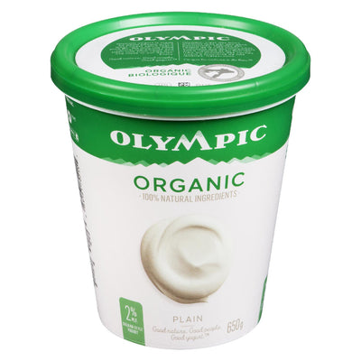 OLYMPIC ORGANIC YOGOURT 2%MG NATURE 650 G