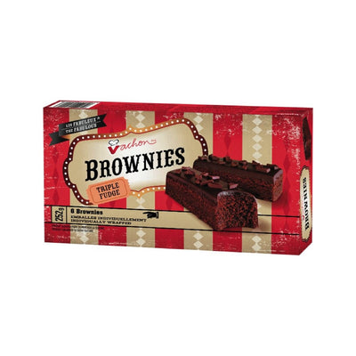 VACHON BROWNIES TRIPLE FUDGE 6S 252 G