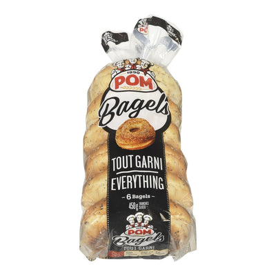 POM BAGELS TRANCHES TOUT GARNI 6S 450 G