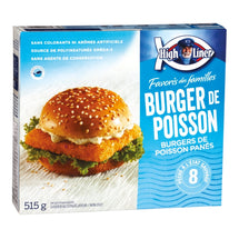 HIGH LINER, BURGER DE POISSON PANÉS, 515G