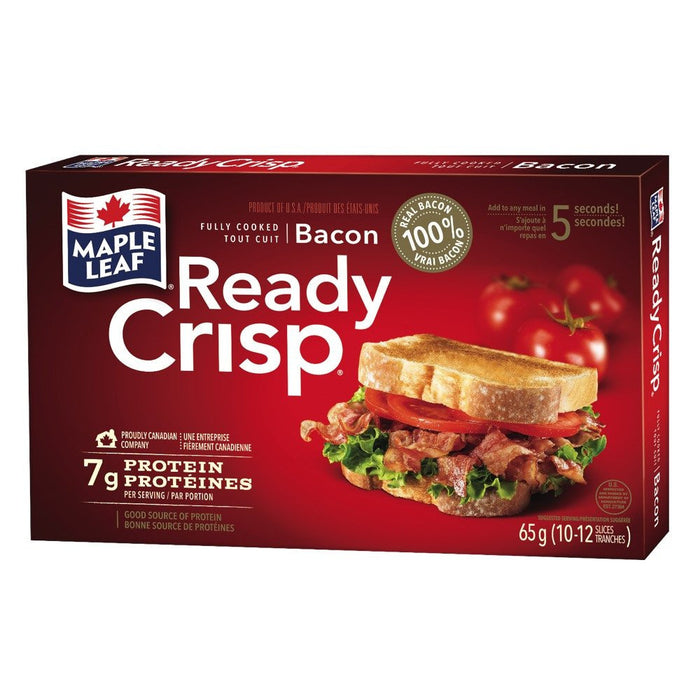 READY CRISP BACON PRÉCUIT 65 G