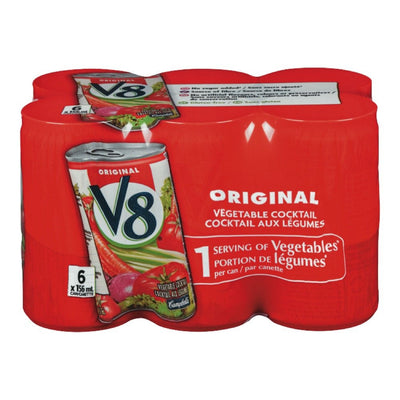 V8 COCKTAIL LEGUMES ORIGINAL 6 x 156 ML