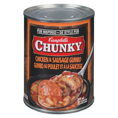 CAMBELL CHUNKY SOUPE GUMBO POULET ET SAUCISSE 540 ML