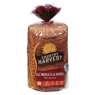 COUNTRY HARVEST PAIN 100% BLÉ 675 G