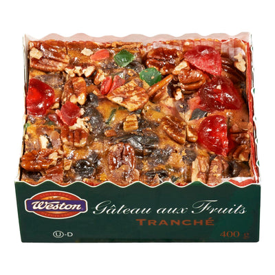 WESTON GATEAU FRUITS TRANCHE 400 G