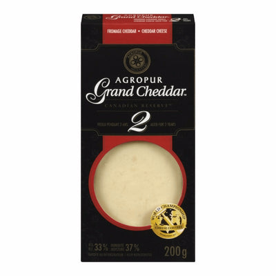 AGROPUR FROMAGE GRAND CHEDDAR 2 ANS 200 G