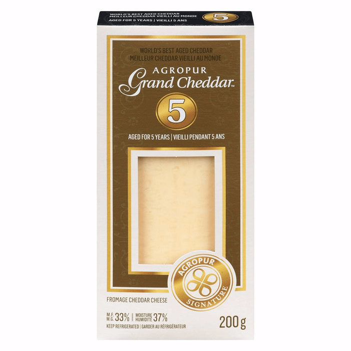 AGROPUR FROMAGE GRAND CHEDDAR 5 ANS 200 G
