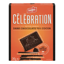 LECLERC CELEBRATION TABLE CHOCOLAT NOIR 240 G