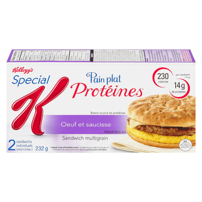 KELLOGG SPECIAL K SANDWICHS PAIN PLAT OEUF SAUCISSE PROTEINES 2S 232 G