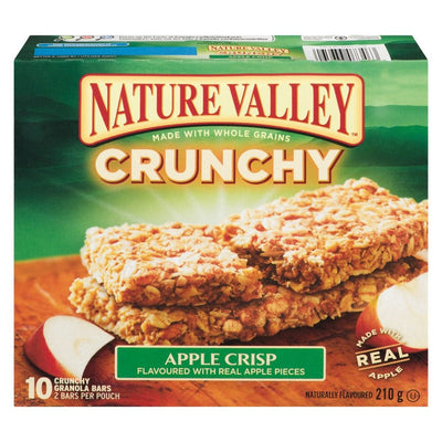 NATURE VALLEY BARRE CROQUANTE CROUSTADE AU POMMES 210 G