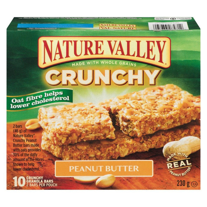 NATURE VALLEY BARRE CROQUANTE BEURRE ARACHIDE 230 G