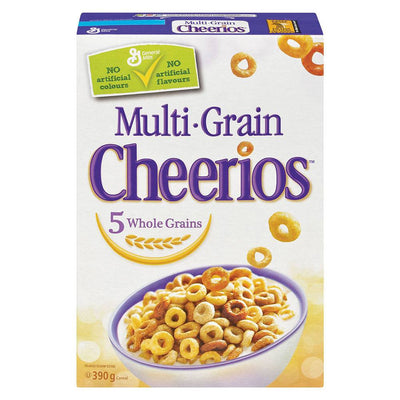 GENERAL MILLS CÉRÉALES CHEERIOS MULTIGRAINS 390 G